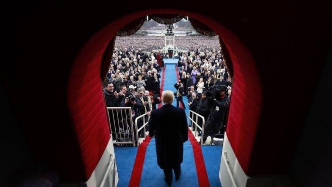 Donald Trump'ın yemin töreninden çarpıcı kareler 1