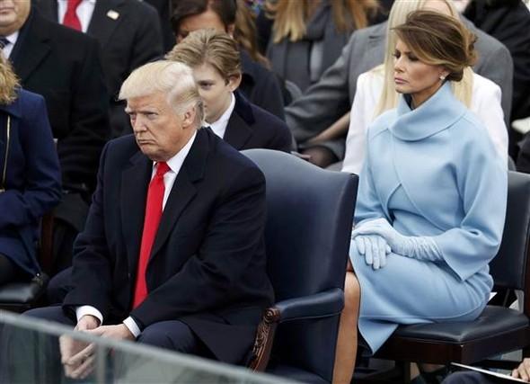 Donald Trump'ın yemin töreninden çarpıcı kareler 12