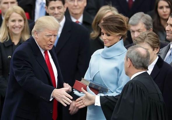 Donald Trump'ın yemin töreninden çarpıcı kareler 14
