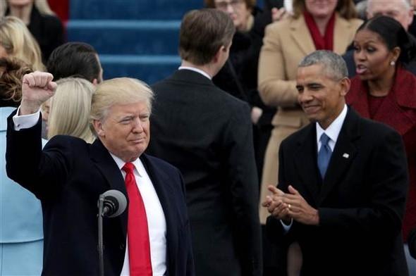 Donald Trump'ın yemin töreninden çarpıcı kareler 17