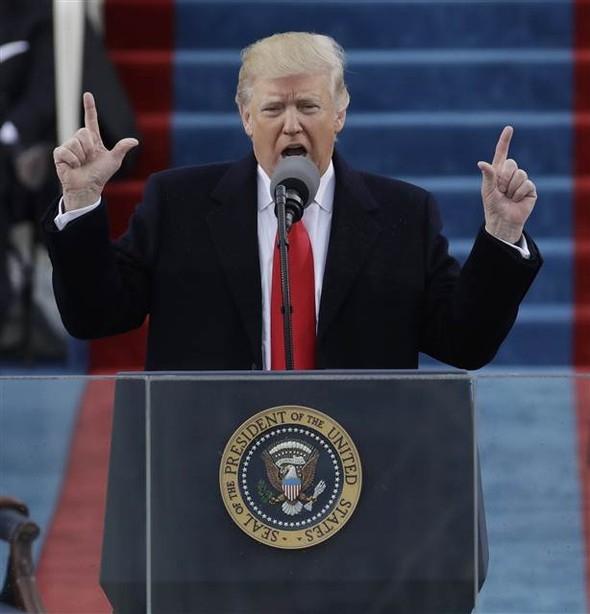 Donald Trump'ın yemin töreninden çarpıcı kareler 18