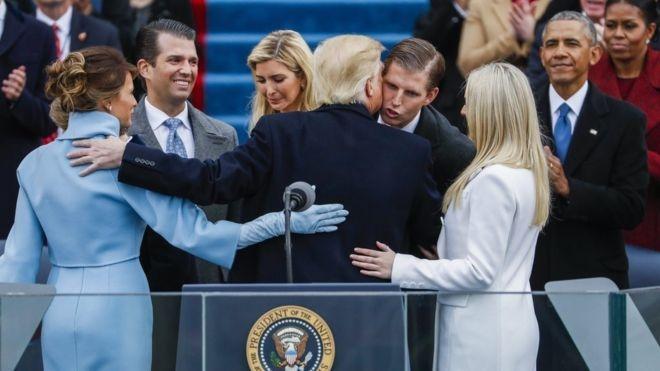 Donald Trump'ın yemin töreninden çarpıcı kareler 6