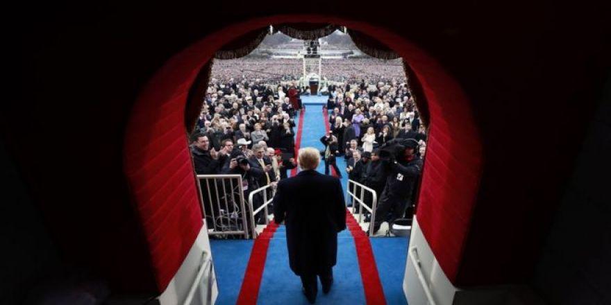 Donald Trump'ın yemin töreninden çarpıcı kareler