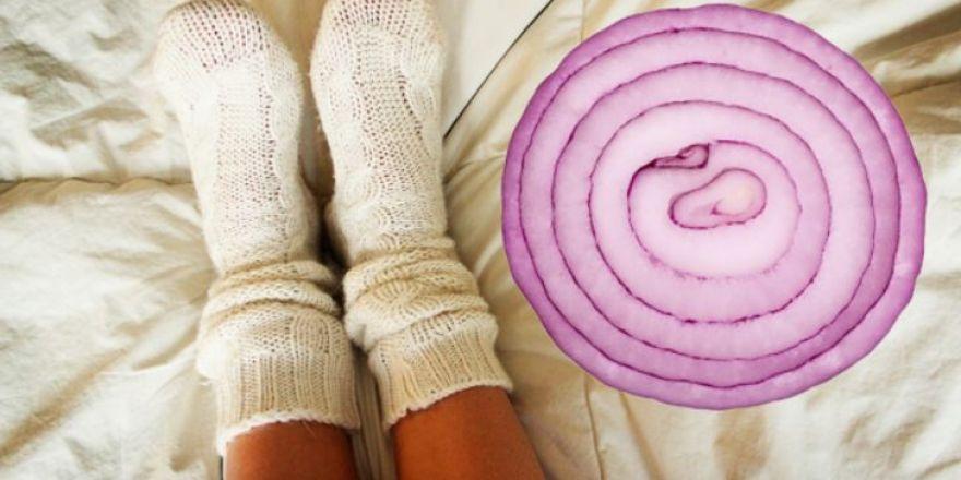 Uyumadan Önce Çorabınızın İçine Soğan Dilimi Koymanın Yararları