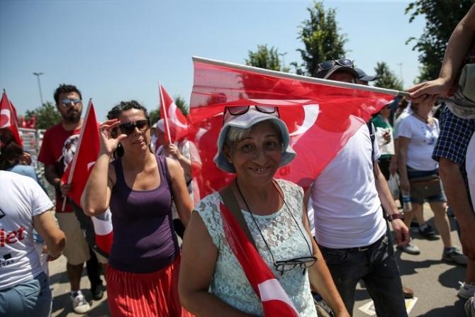 Adalet Yürüyüşü'ne damga vuran fotoğraflar 36