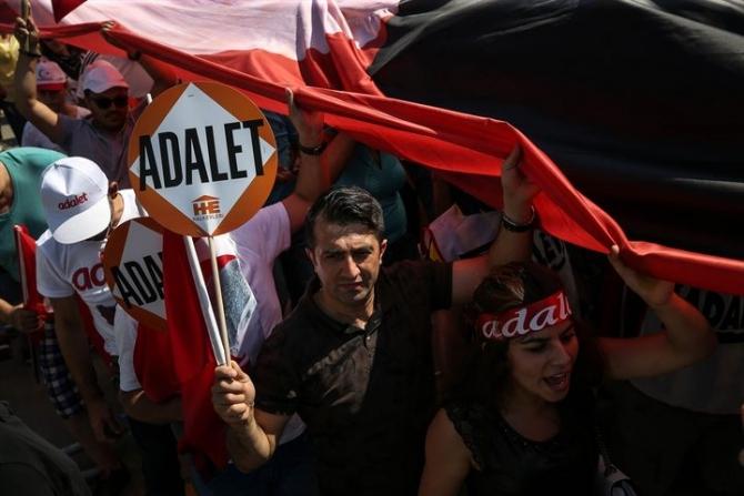 Adalet Yürüyüşü'ne damga vuran fotoğraflar 49