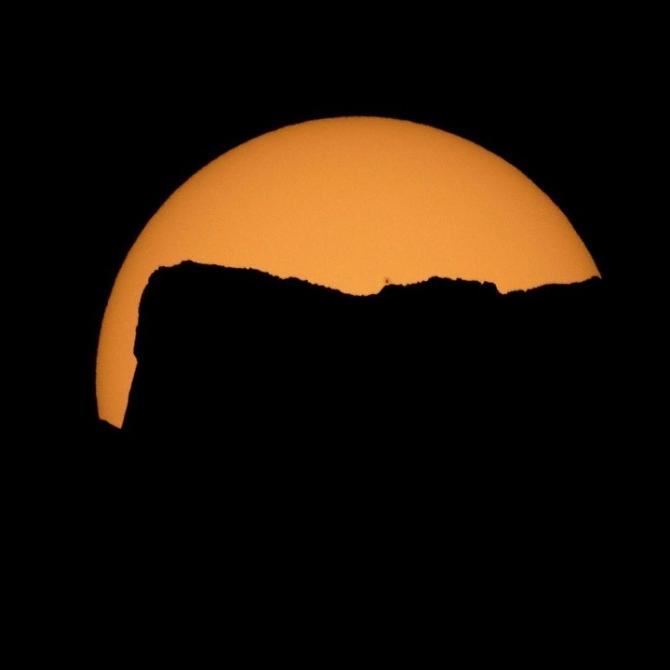 Güneş tutulmasından muhteşem kareler 1