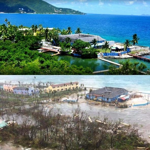 Dünyaca ünlü plaj kasırgadan yok oluyor 1