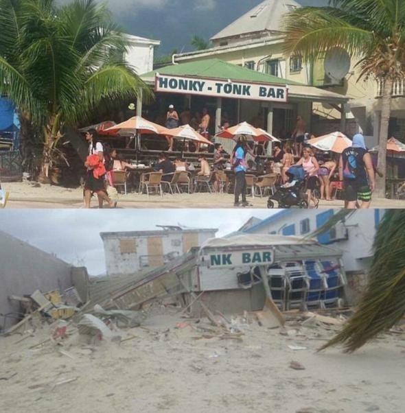 Dünyaca ünlü plaj kasırgadan yok oluyor 24