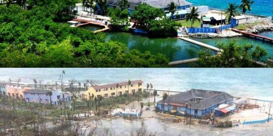 Dünyaca ünlü plaj kasırgadan yok oluyor