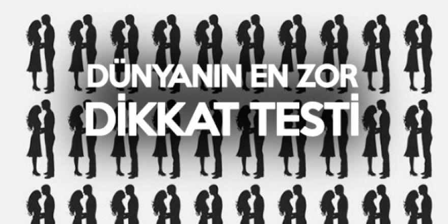 Dünyanın en zor dikkat testi