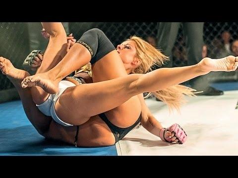 Kızların dövüş sanatı! Lingerie MMA 5