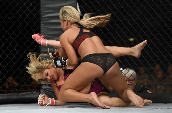 Kızların dövüş sanatı! Lingerie MMA 7