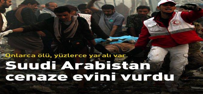Suudi Arabistan cenaze evini vurdu