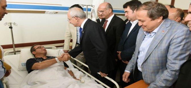 Kılıçdaroğlu, Bülent Tezcan'ı ziyaret etti
