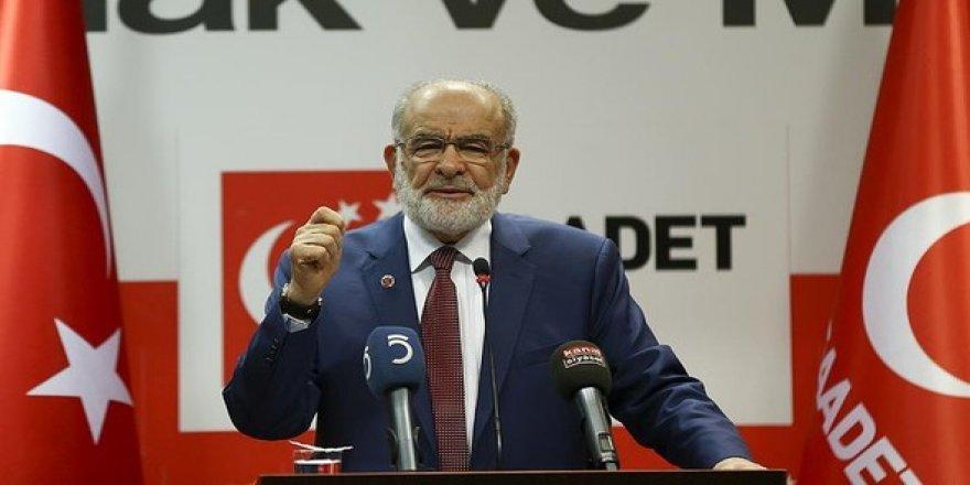 Saadet Partisi 'HAYIR' oyu verecek!