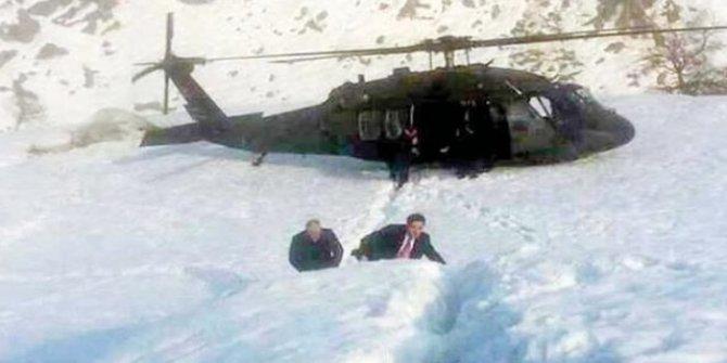 Helikopterde 40 dakikalık ölüm kalım savaşı!