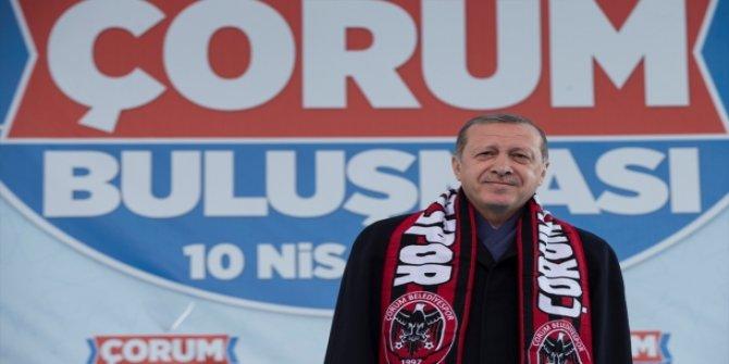 Cumhurbaşkanı Erdoğan'dan Çorum'a müjde