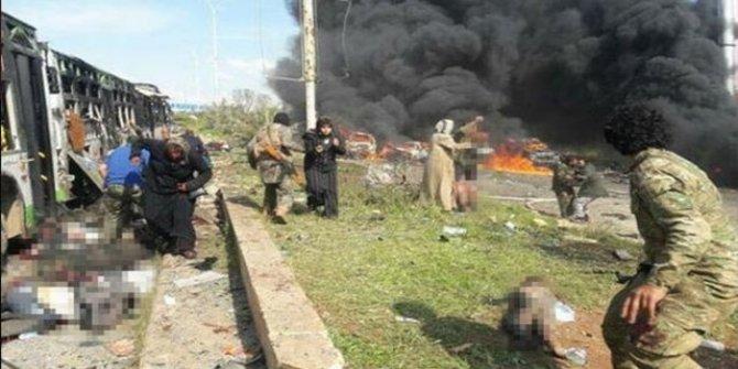 Suriye'de otobüs konvoyunda patlama