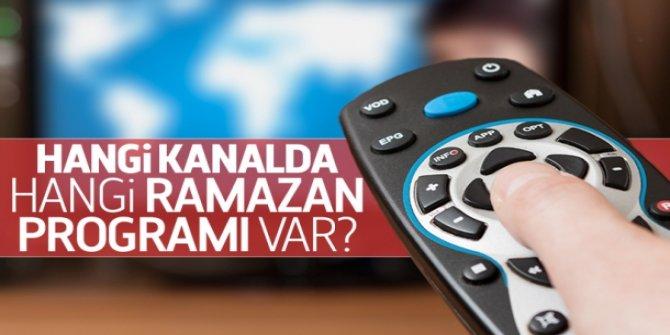 Ramazan'da hangi kanalda hangi programlar var?