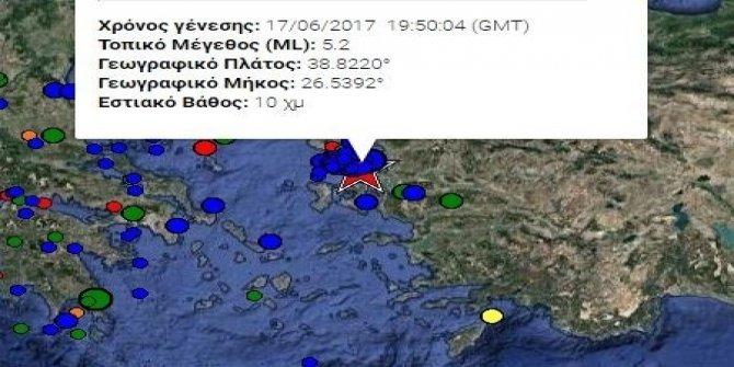 Midilli, 5,2 büyüklüğünde yeni bir artçı depremle sarsıldı
