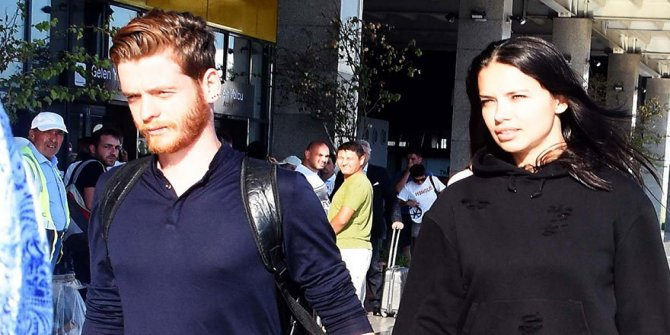 Adriana Lima, Türk yazar Metin Hara ile birlikte