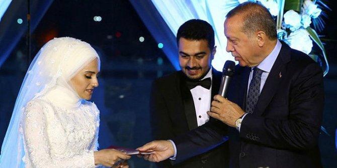 Cumhurbaşkanı Erdoğan, nikaha katıldı