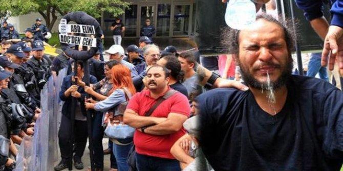 Ankara'da ABD Büyükelçiliği'ne yürümek isteyen gruba polis müdahalesi