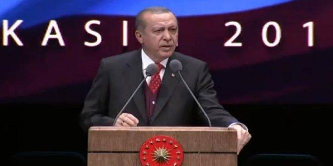 Erdoğan'dan 10 Kasım töreninde Atatürk çıkışı