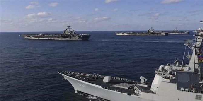 Sular ısınıyor! Amerikan donanması savaş düzenine geçti
