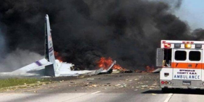 ABD'de askeri kargo uçağı havaalanı yakınlarında düştü: Ölüler var