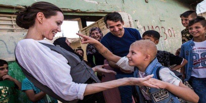 Angelina Jolie, Kuzey Irak'ta mülteci kampını ziyaret etti
