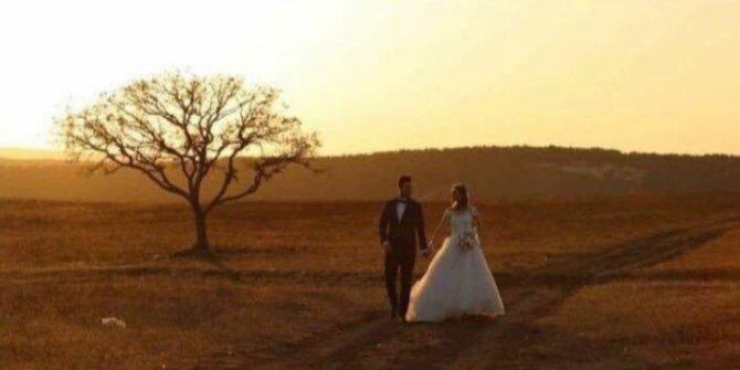 Buna yürek dayanmaz! Şehit eşi düğün fotoğraflarını tek başına çektirdi