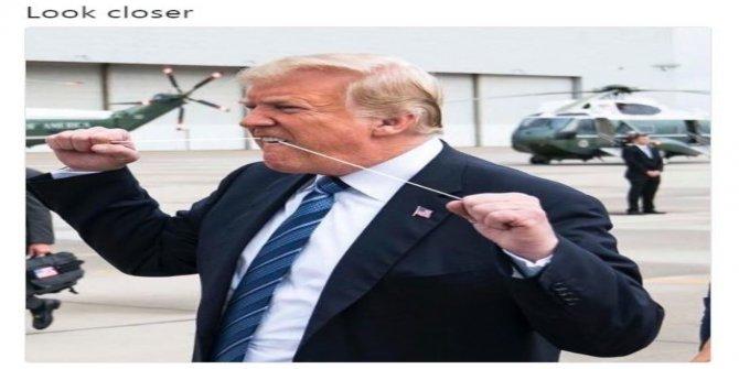 11 Eylül anmasında çift yumruk yapıp baş parmak kaldıran Trump'a sosyal medyada tepki