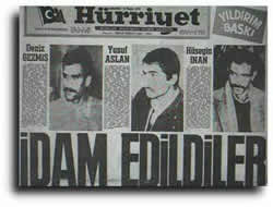 Deniz Gezmiş'in idam anı!