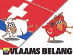 Belçika'da partinin küstah seçim afişi