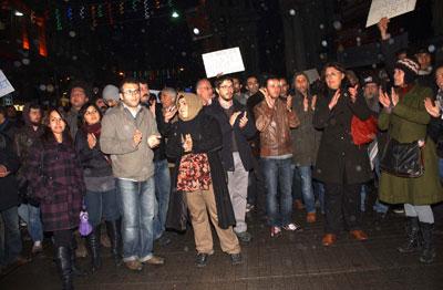 YSK'nın kararına Taksim'de protesto