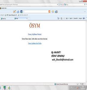 Bir hacker Ösym'nin sitesini hackledi