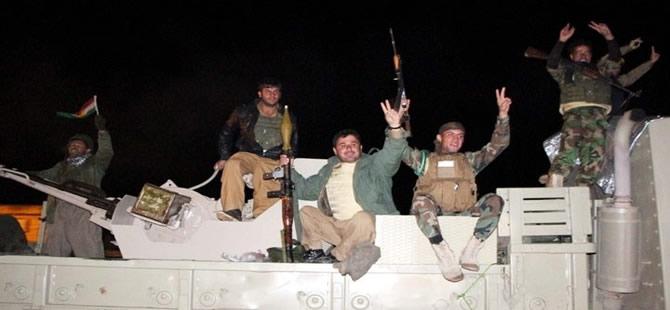 Peşmerge konvoyu Kobani'ye giriş yaptı