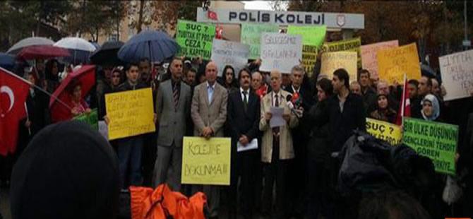 Polis Koleji öğrencileri ve mezunları eylem yaptı