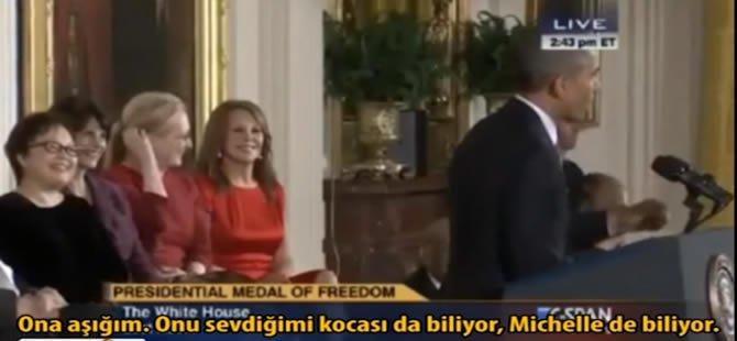 Obama: 'Onu sevdiğimi kocası da biliyor, aşağım ona'