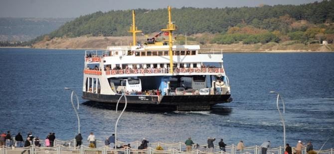Çanakkale'de feribot seferi iptalleri