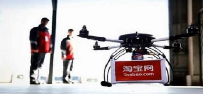 Alibaba, insansız hava aracıyla teslimata başladı