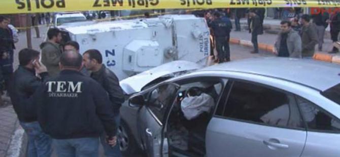 Diyarbakır'da askeri araç devrildi