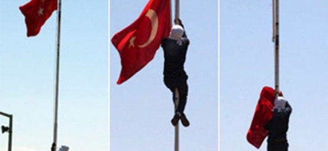 Bayrağı indirenin cezası belli oldu