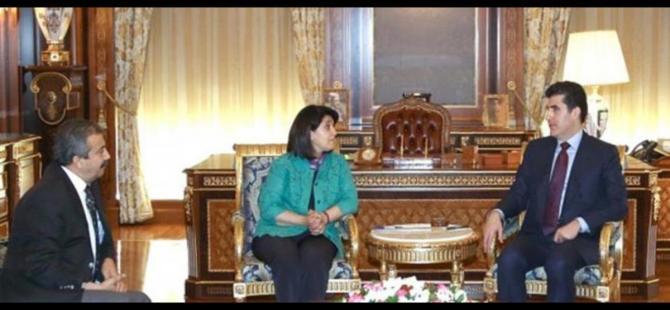 Neçirvan Barzani HDP'li Zana ve Önder'le görüştü