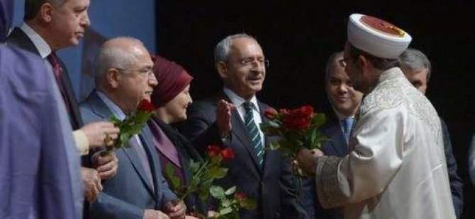 AKP ile CHP arasında gül jesti yaşandı