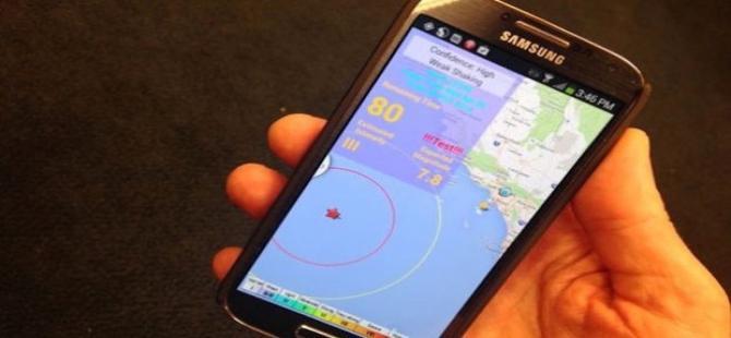 Akıllı telefonlar, depremi de bilecek!