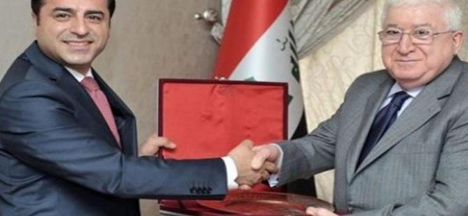 Irak Cumhurbaşkanı Masum, Selahattin Demirtaş ile görüştü