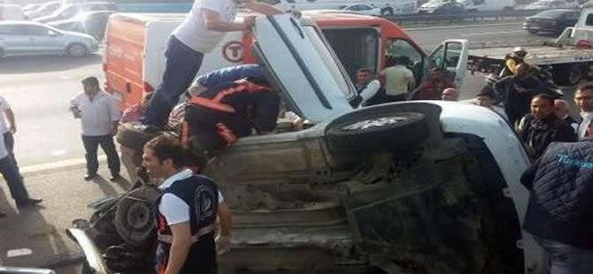 TEM Otoyolu'ndan zincirleme kaza